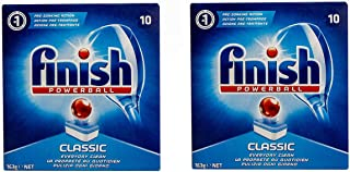 Finish Pre-Soaking Action Classic Dishwasher Tablets - 10 Count Pack of 2