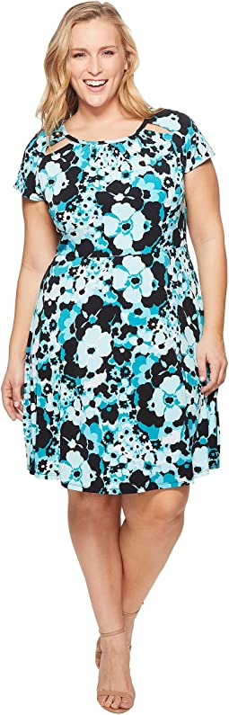 MICHAEL Michael Kors Plus Size Springtime Floral Dress