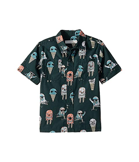 Stella McCartney Kids Rowan Ice Cream Monster Print Button-Down Shirt (Toddler/Little Kids/Big Kids)