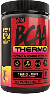 Mutant BCAA Thermo – Supplement BCAA Powder with Micronized Amino Acid and Energy Support - 285 g - Tropical Punch