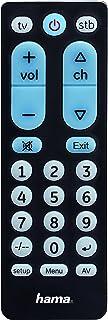 Hama 00040072 红外无线按键黑色遥控器 - 无线红外遥控器(TV,STB,通用,黑色,塑料按钮)