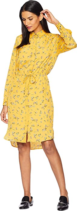 Floral Crepe Shirtdress