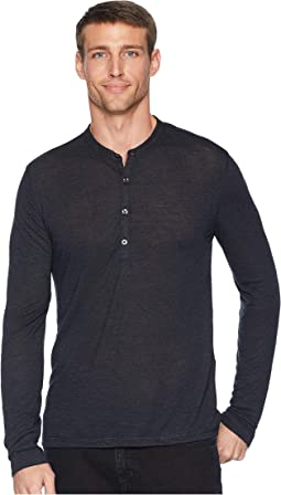Long Sleeve Henley w/ Coverstitch