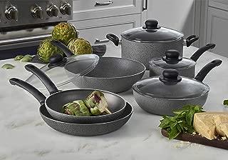 Ballarini 75002-768 Asti Nonstick Cookware Set, 10-pc, Granite
