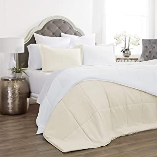 Jácler 3 Piece Reversible Comforter Set (Ivory/White, Full/Queen) Better Than Egyptian Cotton - 1800 Series – Brushed Microfiber – Wrinkle/Fade/Stain Resistant – Hypoallergenic