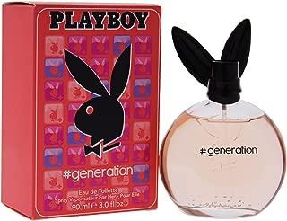Playboy Generation Eau de Toilette Spray for Women, 3 Ounce