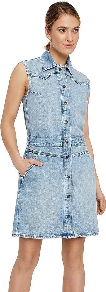 Lee Vestido vaquero para mujer, color azul (Get Light) Get ...