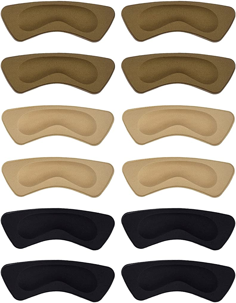 3 Pairs Heel Cushion Pads Heel Shoe Grips Liner Self-adhesive Shoe Insoles