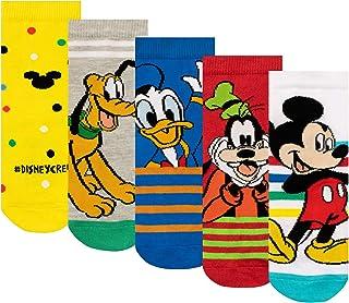 Disney, Calcetines Paquete de 5 para Niños Mickey Mouse
