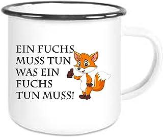 Tasse Becher Kaffeebecher Fuchs mit Wunschname Freunde TS132