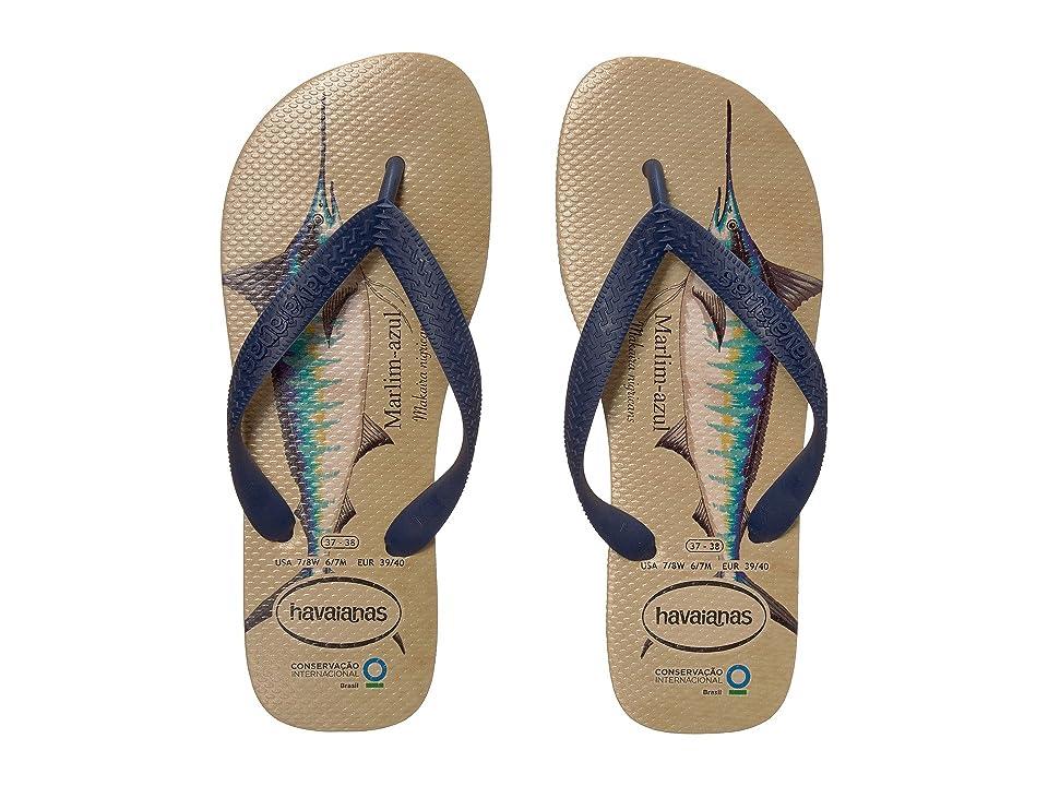 Havaianas Conservation International Flip Flops (Beige/Navy Blue) Women