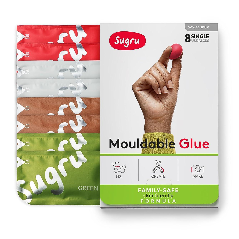 Sugru スグルー成形可能な接着剤 - 家族で安心| 肌に優しい配合アースカラー(8 パック)
