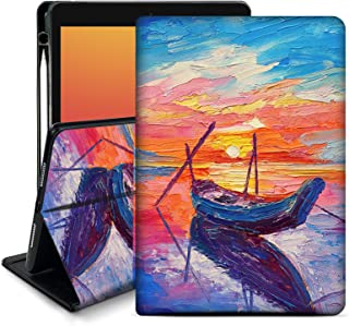 Case for iPad Soft TPU Silicone Slim Stand Cover for iPad 10.2 Case 2019/2020 7th/8th Release Wake/Sleep Cover Oil Paintin...