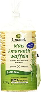 Alnatura Mais-Amaranth-Rosmarin Waffeln, 12er Pack 12 x 150 g