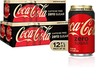 Caffeine Free Coke Zero Fridge Pack Bundle, 12 fl oz, 36 Pack