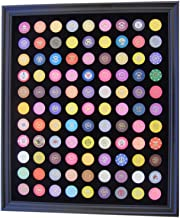 Tiny Treasures, LLC. Black Casino Chip Display Frame for 99 Casino Poker Chips (not included)