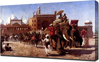 Edwin Lord Weeks - The Return Of The Imperial Court From The Great Mosque At Delhi - Canvas Art Print Reproduction