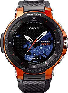 CASIO Pro Trek Touchscreen Outdoor Smart Watch Resin Strap, Black, 27 (Model: