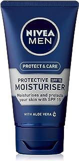 NIVEA MEN Protect & Care Face Moisturiser, with Aloe Vera, Provitamin B5 & SPF15 75ml