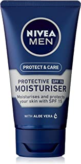 NIVEA MEN Protect & Care Face Moisturiser, with Aloe Vera, Provitamin B5 & SPF15 75ml