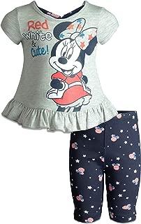 Minnie Mouse Baby Infant Toddler Girls' T-Shirt & Bike Shorts Set