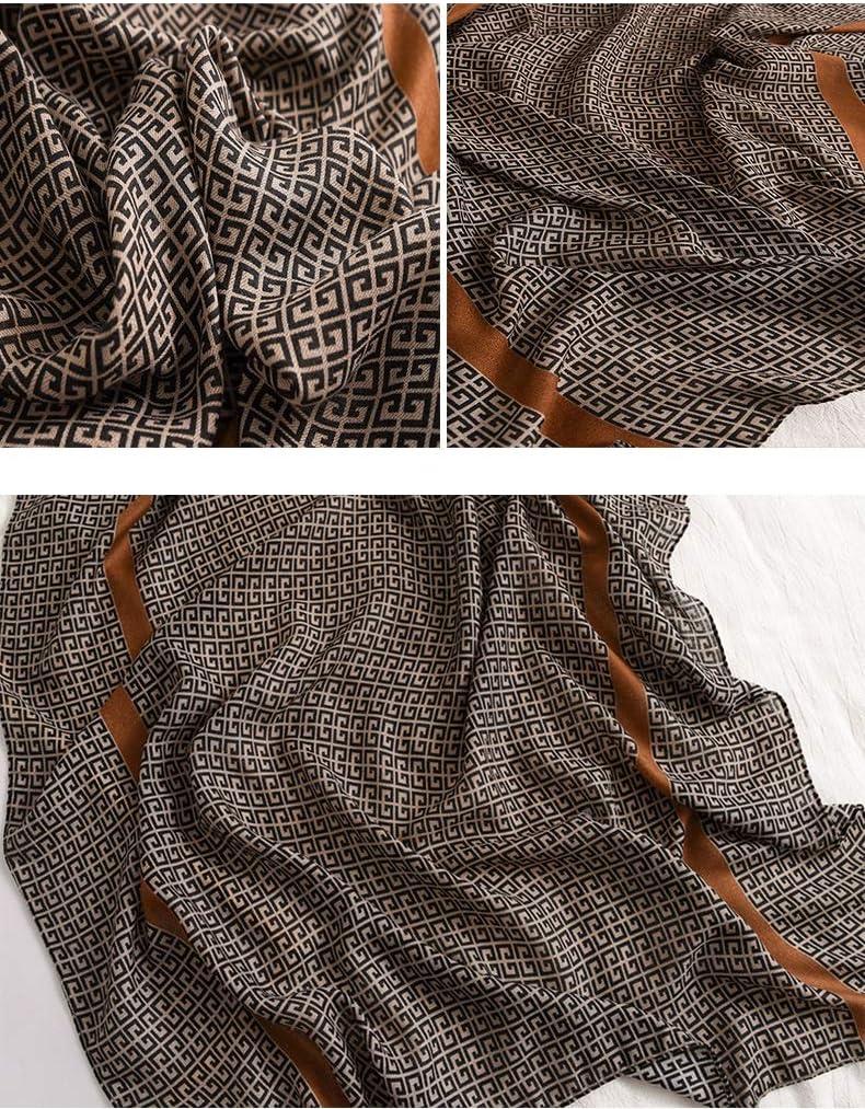 Fall Winter Fashion Designwomen Cotton Long Scarf Ladies Winter Warm Soft Shawls Wraps Unisex Scarves Fashion (Color : A1)