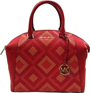 ade8a6292992e1 Michael Kors Riley Large Satchel Bag Leather DK Sangria (35S8GRLS7T)