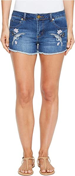 Bird Embroidered Shorts