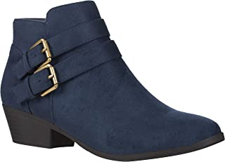Best low heel navy ankle boots Reviews