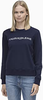 Calvin Klein Jeans Women's Institutional Logo Regular Crew Neck Sweat
