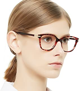c0051a3996e OCCI CHIARI Womens Rectangle Stylish Eyewear Frame Non-Prescription Clear  Eyeglasses