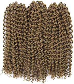 Afro Kinky Curly Braiding Hair Extensions Jerry Curl Crochet Braids 3X Braid Hair Short Synthetic Hair Styles(10inch,#27)