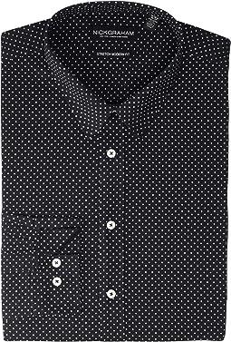 Pin Dot Stretch Dress Shirt