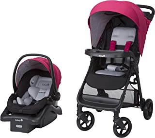 Safety 1st Smooth Ride Travel System with OnBoard 35 LT Infant Car Seat, Sangria