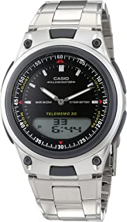 Casio for Men - Analog-Digital AW-80D-1AVES Stainless Steel Watch