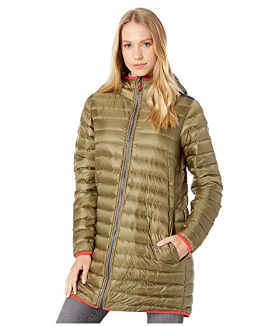 Burton Evergreen Long Down Jacket (Martini Olive/Dress Blue) Women