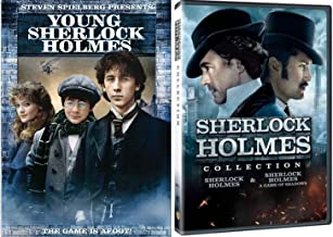 Sherlock Holmes Collection & Game of Shadows Robert Downey Jr. Movie + Young Sherlock Holmes DVD Mystery Set