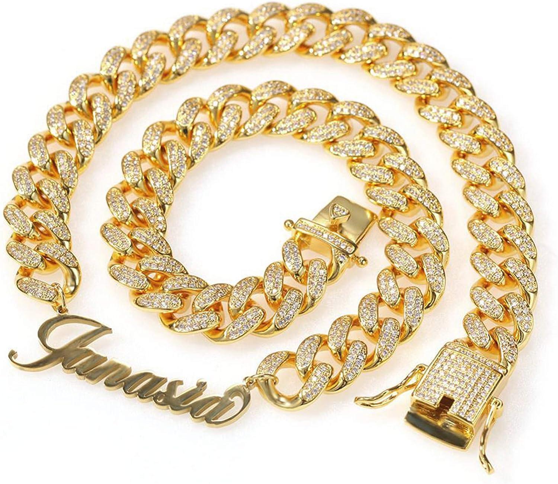 JINLIN Choice Personalized Name Fashionable Necklace Cuban Choker Hop Hip Jewelry