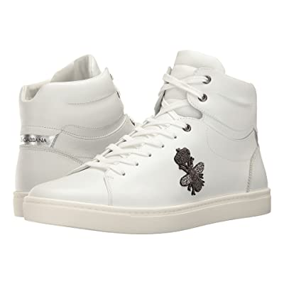 Dolce & Gabbana London Bee Applique High Top (White) Men