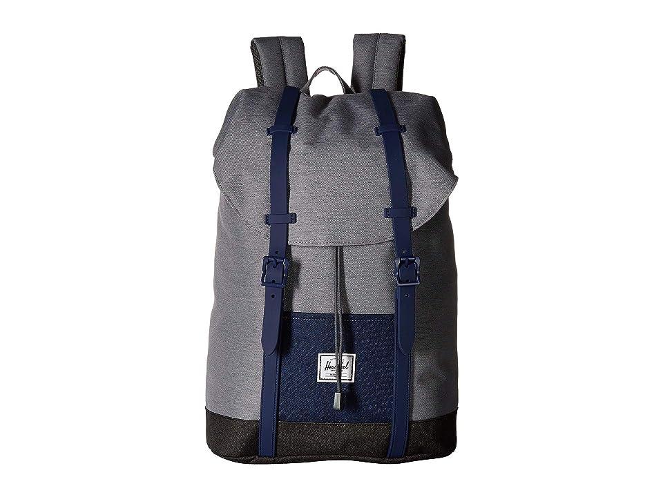 Herschel Supply Co. Kids Retreat Youth (Little Kids/Big Kids) (Mid Grey Crosshatch/Medieval Blue Crosshatch/Black Crosshatch) Backpack Bags