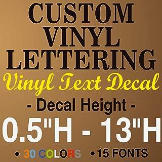 vinyl window lettering decals
