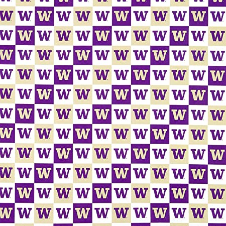 NCAA University of Washington Fleece Blanket Fabric with New Patch Design-Sold By the Yard-Brand New Pattern-Sykel