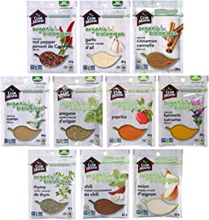 Club House, Quality Natural Herbs & Spices, Organic Pantry Essentials Pack, 10 Count (garlic powder, onion powder, chili p...