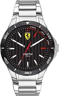 Ferrari Men's Quartz Watch with Stainless Steel Strap, Silver, 25 (Model: 830750)