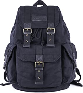 Gootium Canvas Rucksack Backpack Wanderrucksack Vintage Rucksäcke - Unisex