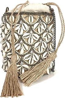 Zara Women Straw crossbody bag with seashells 1631/004
