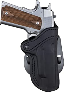 1791 GUNLEATHER 1911 Paddle Holster - OWB CCW Holster - Right Handed Leather Gun Holster for Belts - Fits 1911 Models with 4