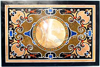 Gifts And Artefacts Table rectangulaire en marbre, table de salle à manger en marbre, travail floral exclusif