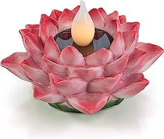 VP Home Fuchsia Lotus Flower Solar Powered LED Outdoor Decor Garden Light