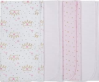 Baby Girls' 4-Pack Flannel Receiving Blanket